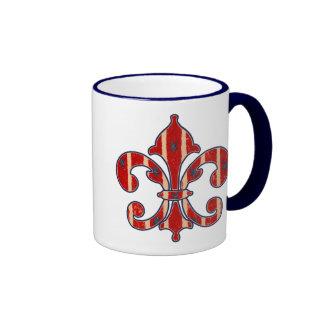 Stars and Stripes Ringer Coffee Mug