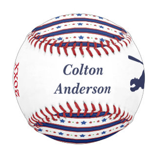 Stars and Stripes MVP Personalized Baseball
