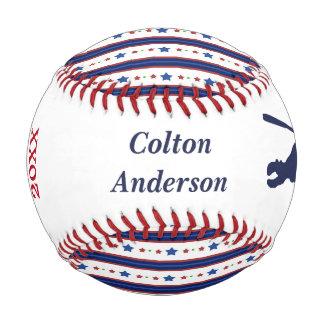 Stars and Stripes MVP Personalized Baseball