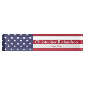 Stars and Stripes Name Plate