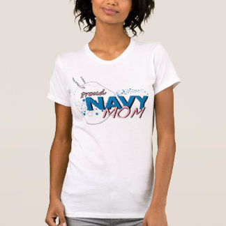 Stars and Stripes Navy Mom T-Shirt