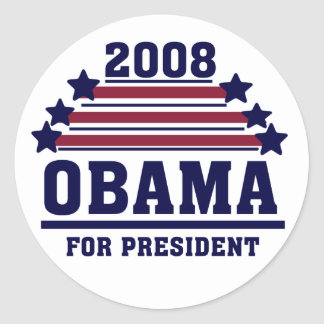 Stars and Stripes Obama Sticker