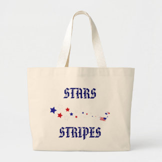 Stars and Stripes Parachuter Large Tote Bag
