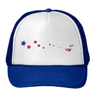 Stars and Stripes Parachuter Trucker Hat