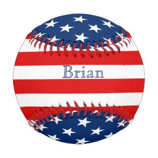 Stars and Stripes Patriotic Custom Baseball