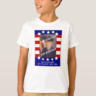 Stars and Stripes Patriotic Custom Photo KidsShirt T-Shirt