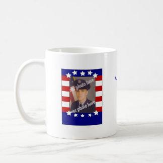Stars and Stripes Patriotic Custom Photo Mug