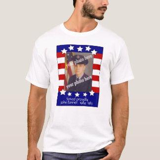 Stars and Stripes Patriotic Custom Photo Shirt