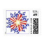 Stars and Stripes Patriotic Flower Stamps