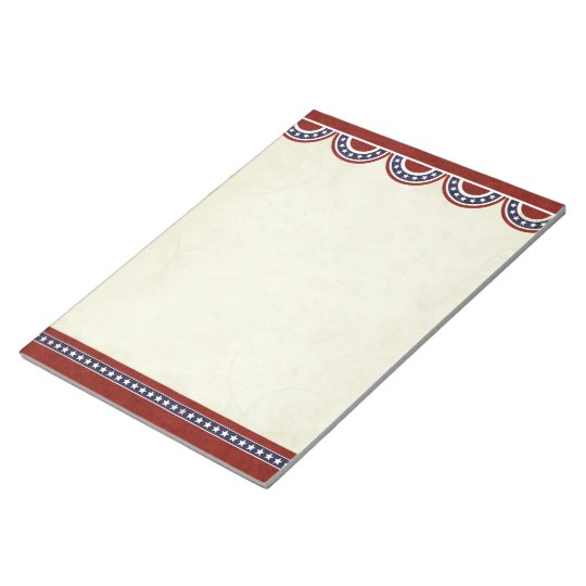 Stars and Stripes Patriotic Notepad