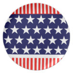 Stars and Stripes Patriotic Plate
