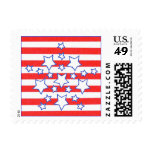 Stars and Stripes Patriotic Postage Stamps