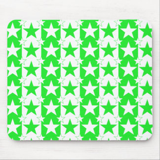 Stars and Stripes Pattern 2 Green Mouse Pad