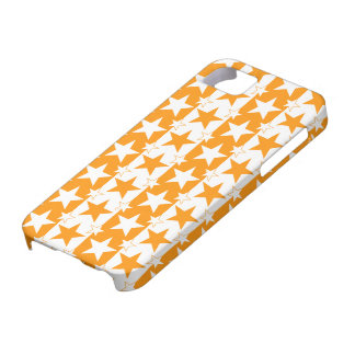 Stars and Stripes Pattern 2 Orange iPhone 5 Cases