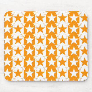 Stars and Stripes Pattern 2 Orange Mouse Pad