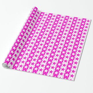 Stars and Stripes Pattern 2 Pink Wrapping Paper