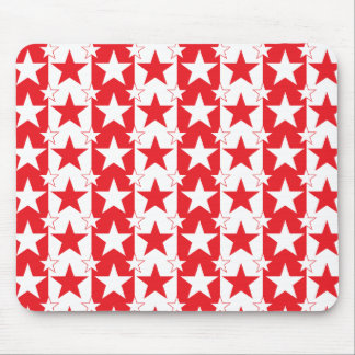 Stars and Stripes Pattern 2 Red Mouse Pad