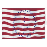 Stars and Stripes Peace Sign Flag Greeting Cards