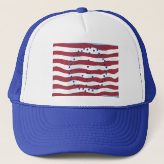 Stars and Stripes Peace Sign Flag Hats