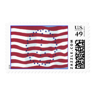 Stars and Stripes Peace Sign Flag Postage Stamps