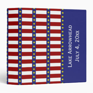 Stars and Stripes Personalized Binder Scrapbook