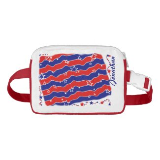 Stars and Stripes Personalized Cap-Sac Fanny Packs