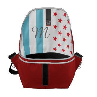 Stars and Stripes personalized monogram Messenger Bag