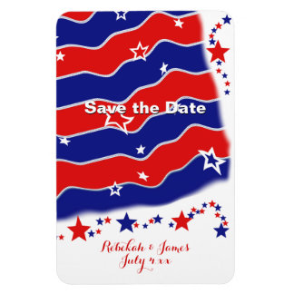 Stars and Stripes Personalized SAVE THE DATE Vinyl Magnet
