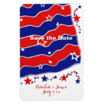 Stars and Stripes Personalized SAVE THE DATE Rectangular Photo Magnet