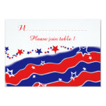 Stars and Stripes Personalized TABLE SEATING Card