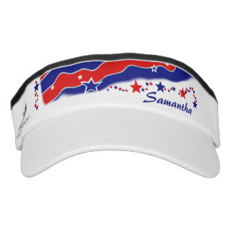 Stars and Stripes Personalized Visor