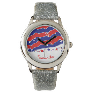 Stars and Stripes Personalized Watches