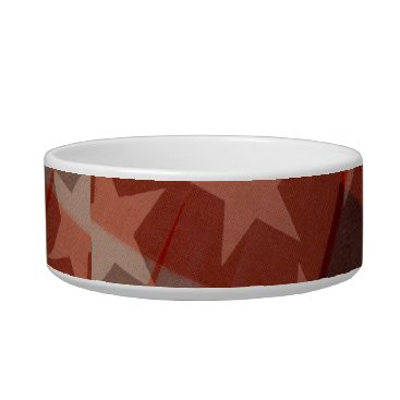 USA Themed Stars and Stripes Pet Bowl