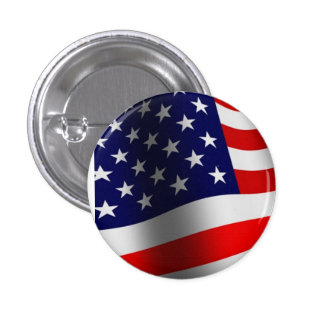 Stars and Stripes Pinback Button