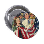 Stars and Stripes Pinback Buttons