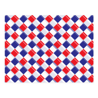 Stars and Stripes Plaid Postcard
