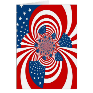 stars and stripes red white and blue card