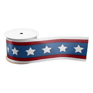 Stars and Stripes red white blue ribbon