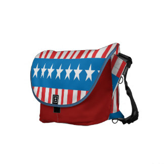 Stars and Stripes Rickshaw Messenger Bag