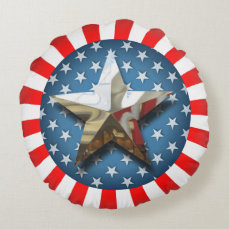 Stars and Stripes Round Pillow