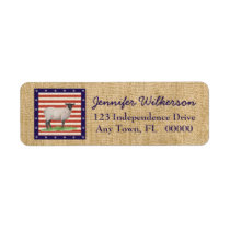 Stars and Stripes Sheep Label