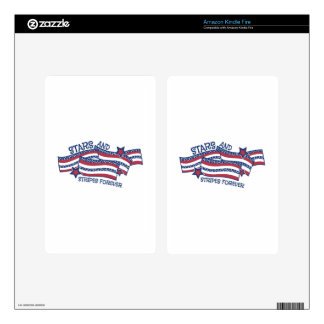 Stars And Stripes Kindle Fire Decal