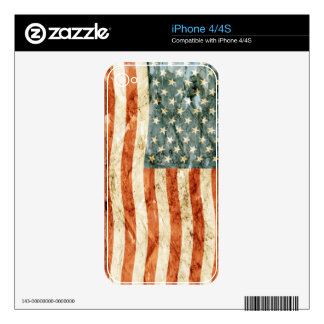 Stars and Stripes Decal For iPhone 4
