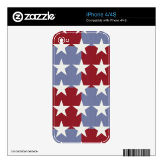 Stars and Stripes Skins For The iPhone 4