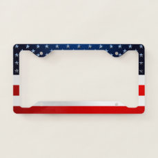 Stars And Stripes Style License Plate Frame