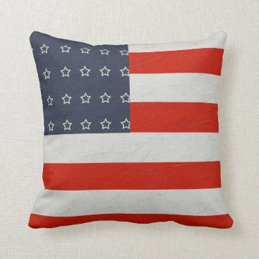 USA Themed Stars and stripes throw pillow