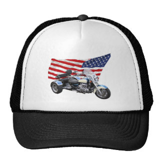 Stars and Stripes Trike Trucker Hat