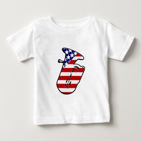 Stars and Stripes Tuba Baby T-Shirt