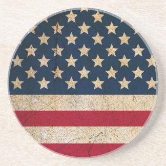 Stars and Stripes USA Flag Americana Coaster