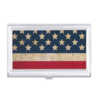Stars and Stripes USA Flag Business Card Holder